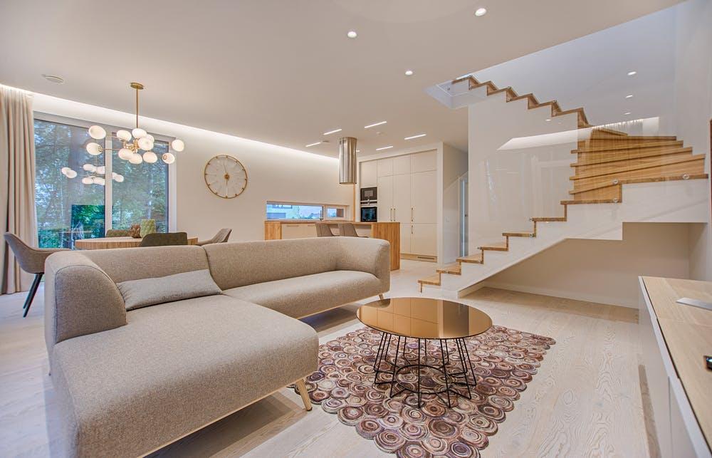 Italian furniture in a living room