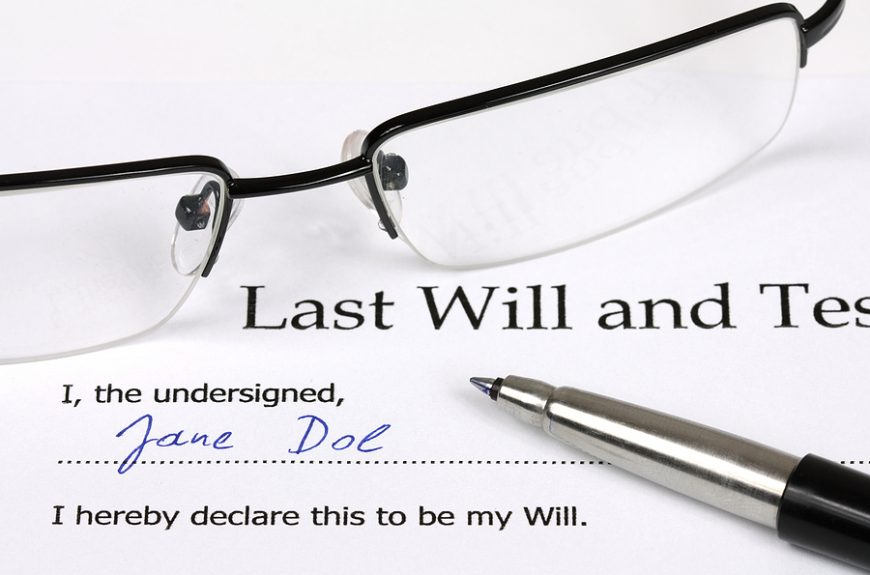 Last will and estate document