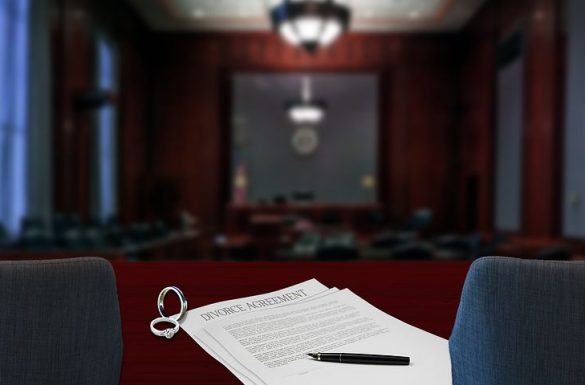 Court room with gavel